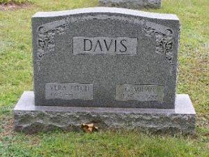 Davis headstone