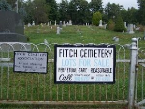 Fitch Cemetery Sign