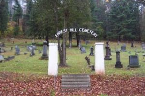 Forest Hill Cemetery Sign