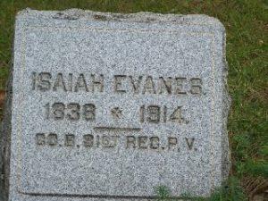 EVANES, Isaiah, 1838 - 1914