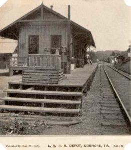 Lehigh Valley Railroad Depot Dushore PA